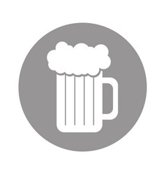 Fresh beer jar isolated icon vector