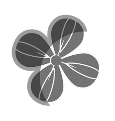 Gray beauty flower decoration vector
