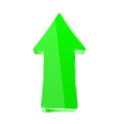 green shiny arrow vector image vector image