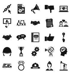 head icons set simple style vector image