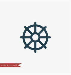 Helm marine icon simple vector