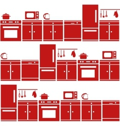 kitchen equipment seamless pattern vector image vector image