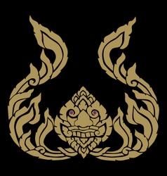 Lion golden face vector