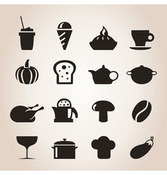 Meal icons7 vector