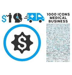 Money Award Icon with 1000 Medical Business vector image vector image