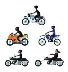 Motorcycle riders bikers vector