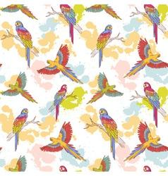 Parrot seamless grunge big vector image