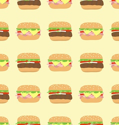 Pattern hamburger cheeseburger vector