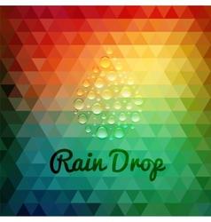 Retro styled rain drop design card vector image