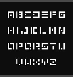 simple stencil font english alphabet vector image vector image