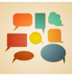 Speech bubbles in retro style vector image