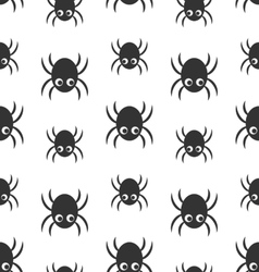 Spider Silhouette on white background vector image vector image