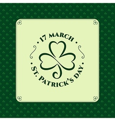 St patrick symbol stamp vector image vector image