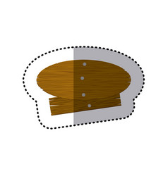 Sticker oval and rectangle pieces wooden board vector