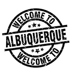 Welcome to albuquerque black stamp vector