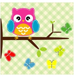 Whimsical owl vector image
