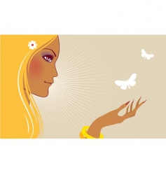 with butterfly vector image vector image