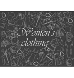 Women clothing chalk vector image