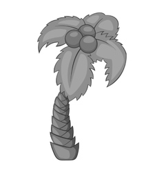 Tropical palm icon gray monochrome style vector image