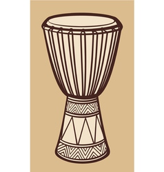 African drum-music instrument vector