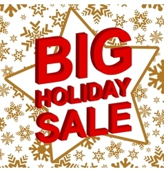 Winter sale poster with big holiday sale text vector