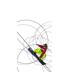 Snowboarder jumping abstract image vector