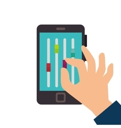 smartphone with musical console app vector image