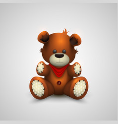 teddy bear on a white background vector image