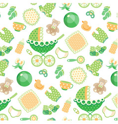 seamless pattern with baby vector image