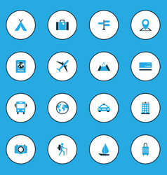 Exploration colorful icons set collection of bus vector