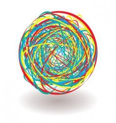 elastic band tangle icon vector image