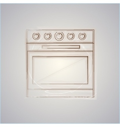 Sketch of oven vector