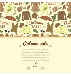 Autumn sale background with season women clothes vector