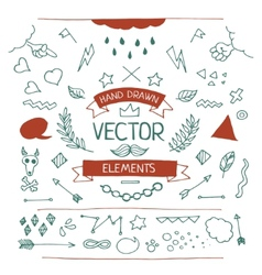 Set of hand drawn elements vector