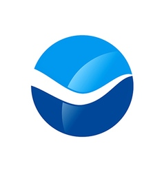 wave water icon abstract logo vector image