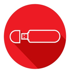 Flat icon of usb flash drive modern flat icons vector