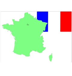 6145 france map and flag vector image