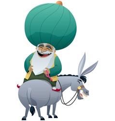 Nasreddin Hodja vector image