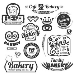Bakery Labels Set vector image