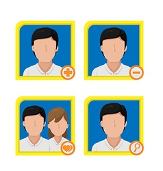 Person avatar icon symbol design vector