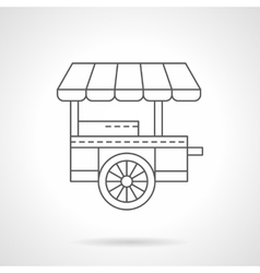 Wheel coffee shop flat thin line icon vector