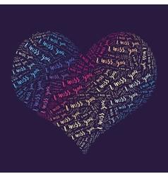 Miss words heart vector