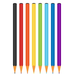 Rainbow multicolor color pencils vector