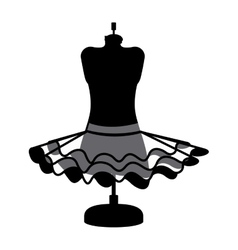 Female fashion dress isolated icon design vector