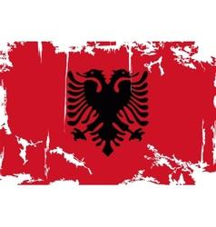 Albanian grunge flag vector