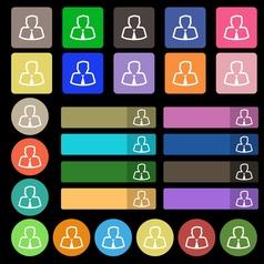 Avatar icon sign Set from twenty seven vector image