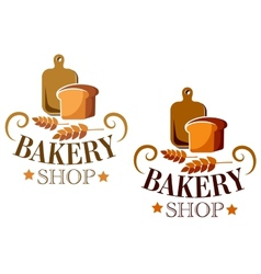 Bakery shop sign or label vector