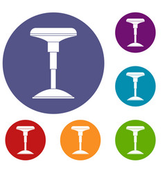 Bar stool icons set vector