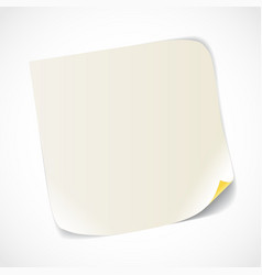 Blank white paper sheet vector image vector image