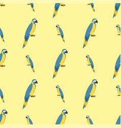 Cartoon tropical parrot wild animal bird seamless vector